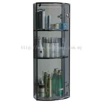 TRANSPARENCE BLACK TRIPLE GLASS CABINET FR-BA-MC-04801