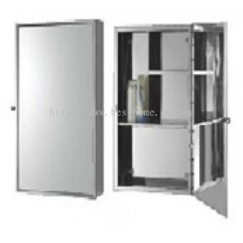 STAINLESS STEEL MIRROR CABINET JG1033 / TR-BA-MC-07707-PL