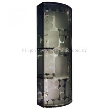 TRANSPARENCE WHITE TRIPLE TEMPERED GLASS CABINET TR-BA-MC-04803