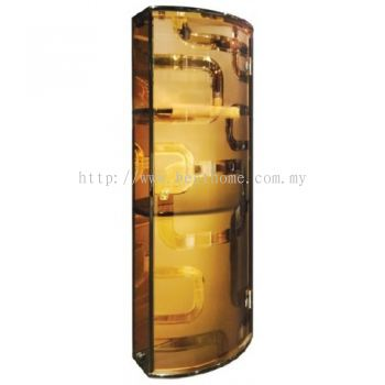 TRANSPARENCE BROWN TRIPLE TEMPERED GLASS CABINET TR-BA-MC-04802