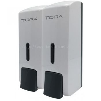 TORA DOUBLE WALL MOUNTED SOAP DISPENSER SD3218-WHITE / TR-BA-SPD-01308-WW