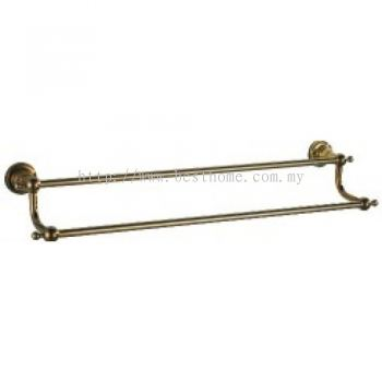 TORA ANTIQUE BRASS SERIES DOUBLE TOWEL BAR AB10302 / TR-BA-TLB-01036-AB