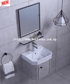 SS CABINET + BASIN RAL3633