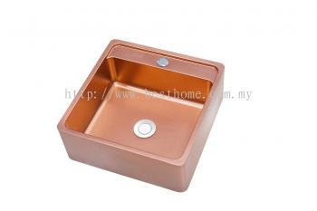 COUNTER TOP BASIN - ROSE GOLD