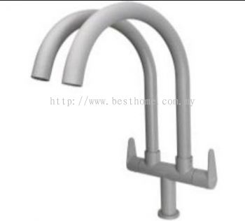 PILLAR SINK TAP - MATT GREY