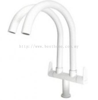 PILLAR SINK TAP - WHITE