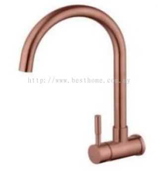 WALL SINK TAP - ROSE GOLD