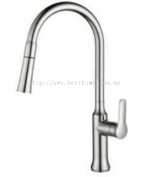 SINK MIXER WITH PULL-OUT SPRAYER