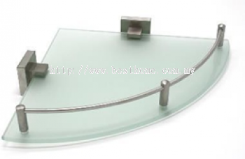 CORNER GLASS SHELF RAL2612A