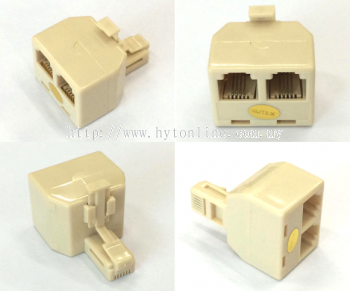 RJ11 Telephone Plug 1-Tail 2-Female