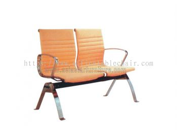 TWO SEATER LINK CHAIR C/W CHROME METAL BASE ACL 8400-(2)