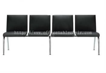 FOUR SEATER LINK CHAIR C/W CHROME METAL BASE LC-SR2