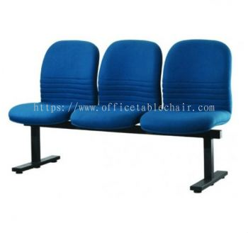THREE SEATER LINK CHAIR C/W EPOXY BLACK METAL BASE LC2