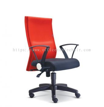 IMAGINE STANDARD MEDIUM BACK FABRIC CHAIR WITH POLYPROPYLENE BASE ASE 2392
