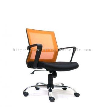 BRIGHTON LOW BACK ERGONOMIC MESH CHAIR WITH CHROME METAL BASE ASE 2731