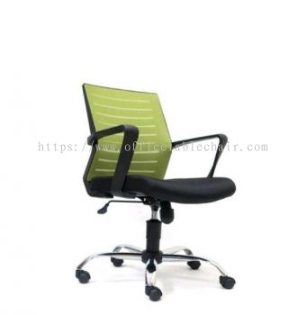 BURNLEY LOW BACK ERGONOMIC MESH CHAIR WITH CHROME METAL BASE ASE 2735