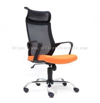 OWER MESH HIGH BACK CHAIR WITH CHROME BASE ASE 2821