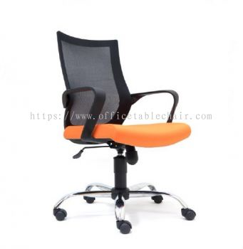 OWER MESH LOW BACK CHAIR WITH CHROME BASE ASE 2822