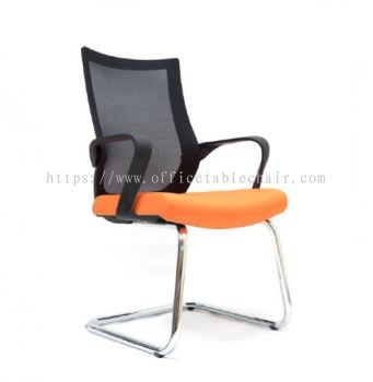 OWER MESH VISITOR CHAIR WITH CHROME BASE ASE2823