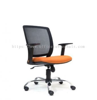 UMAX MESH LOW BACK CHAIR WITH CHROME ASE2772