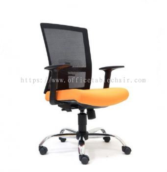 EXOTIC MESH MEDIUM BACK CHAIR WITH CHROME BASE ASE2762