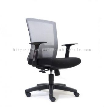 EXOTIC MESH MEDIUM BACK CHAIR WITH PP BASE ASE2766