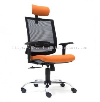 DERRY MESH HIGH BACK CHAIR WITH CHROME BASE ASE 2811