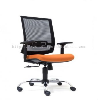 DERRY MESH MEDIUM BACK CHAIR WITH CHROME BASE ASE 2812