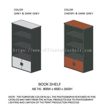BOOK SHELF WITH GLASS DOOR