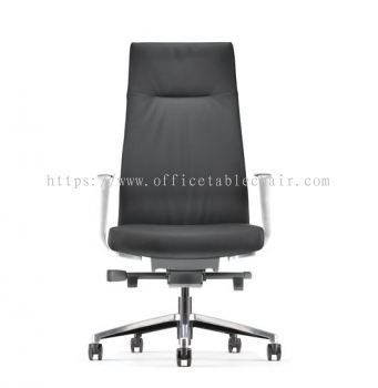 PREMIUM PRESIDENTIAL HIGH BACK WITH ALUMINIUM BASE AND POLISHED ARMREST ASPM 6310L-18S