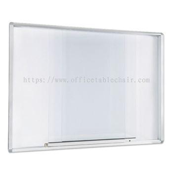 ALUMINIUM SLIDING GLASS CABINET WHITEBOARD