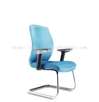 HALEY EXECUTIVE VISITOR FABRIC CHAIR WITH CHROME CANTILEVER BASE