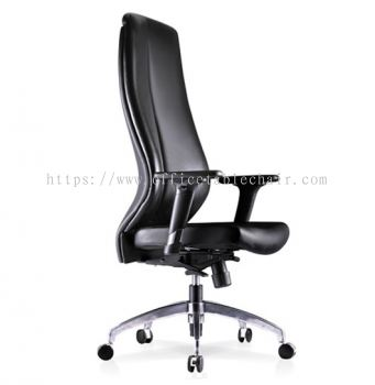 SENSE 2 EXECUTIVE EXTRA HIGH BACK LEATHER CHAIR WITH ALUMINIUM ROCKET DIE-CAST BASE EHB