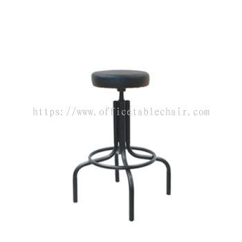 HIGH PRODUCTION STOOL C/W EPOXY BLACK METAL BASE PS1