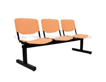 THREE SEATER LINK CHAIR C/W EPOXY BLACK METAL BASE LC4