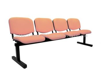 FOUR SEATER LINK CHAIR PADDED C/W EPOXY BLACK METAL BASE LC5-4