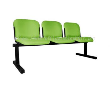 THREE SEATER LINK CHAIR PADDED C/W EPOXY BLACK METAL BASE LC9