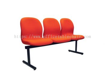 THREE SEATER LINK CHAIR PADDED C/W EPOXY BLACK METAL BASE LC12