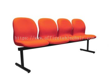 FOUR SEATER LINK CHAIR PADDED C/W EPOXY BLACK METAL BASE LC12-1