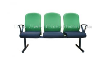 THREE SEATER LINK CHAIR PADDED C/W EPOXY BLACK METAL BASE LC13