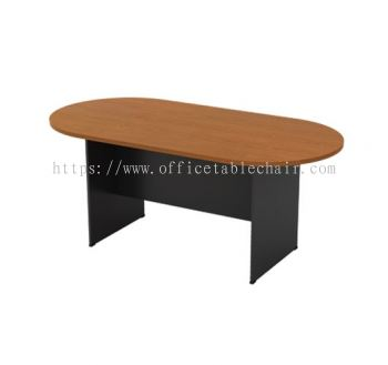 OVAL MEETING TABLE C/W WOODEN BASE GO 18