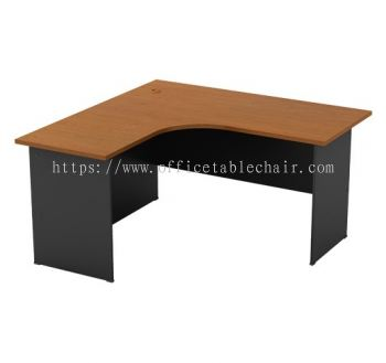 L-SHAPE TABLE C/W WOODEN BASE GL 1515
