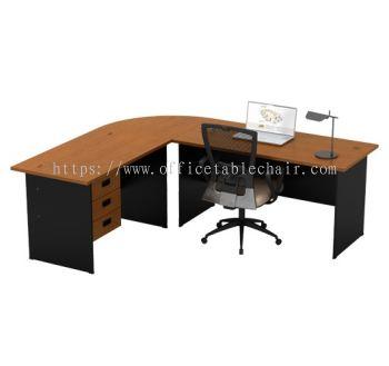 RECTANGULAR TABLE C/W FIXED PEDESTAL 3D SET