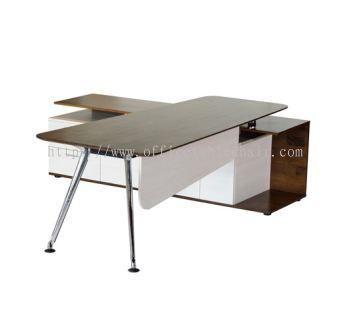 TEZAR DIRECTOR TABLE C/W SIDE CABINET