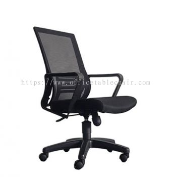 EDEX LOW BACK ERGONOMIC MESH CHAIR C/W POLYPROPYLENE BASE - Asiastar Furniture Trading Sdn Bhd