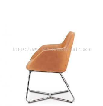 ANTHOM EXECUTIVE VISITOR LOW BACK CHAIR C/W CHROME CANTILEVER BASE AT6612L-91C