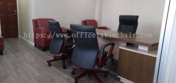 OFFICE FURNITURE - DIRECTOR TABLE, CHAIR & SOFA