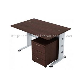 QT 128 RECTANGULAR TABLE WITH MOBILE PEDESTAL 3D