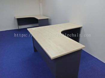 DELIVERY & INSTALLATION L-SHAPE TABLE GL 552 OFFICE FURNITURE DAMANSARA HEIGHT, PETALING JAYA