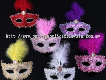 Feather Half Mask - 2014 0207